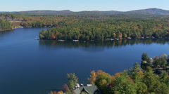 Lake Winnipesaukee, Maine, from the air Stock Footage