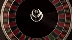 Classic casino roulette wheel black Stock Footage