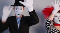 Mime near invisible wall Arkistovideo