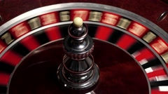 Classic roulette white ball, close up Stock Footage