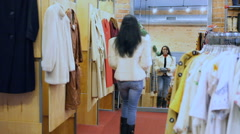 Asian Woman Shopping In Town Stock Footage