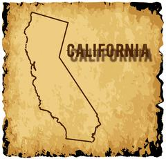 Old California Map Piirros