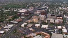 Flight over downtown area toward suburbs of Scottsdale, Arizona. Shot in 2008. Stock Footage