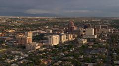 Wide orbit of downtown Albuquerque. Shot in 2008. Stock Footage