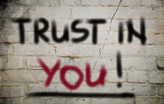 Stock Illustration of Trust In You Concept