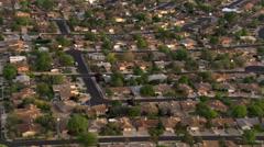Flight over Albuquerque suburban residential area. Shot in 2008. - stock footage