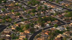 Flying past Albuquerque suburban residential areas. Shot in 2008. Stock Footage