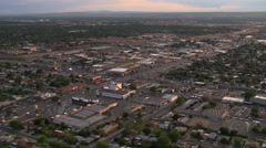 Flying over Albuquerque suburbs and outlying commercial areas. Shot in 2008. Stock Footage