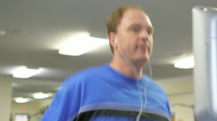 Middle Aged Man Working Out In Fitness Center - stock footage