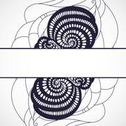 Abstract black frame. Stock Illustration