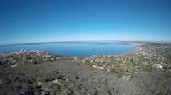 4K AERIAL: California Coastline, La Jolla Stock Footage
