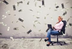 Earn money working - stock photo
