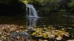 West burton waterfall Stock Footage