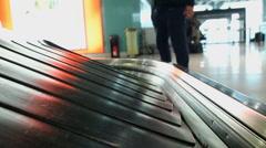 Conveyor belt in airport Stock Footage