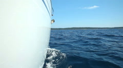 View of sailboat from deck on Adriatic sea - stock footage
