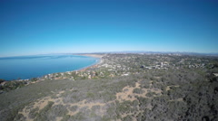 La Jolla, California Coast Landscape Aerial Stock Footage