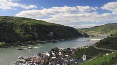Timelapse - Middle Rhine valley near Assmannshausen Stock Footage