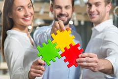 Skillful business partners are ready to work together Stock Photos