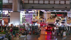 Time-lapse of Street Market at Siam Square Bangkok Stock Footage