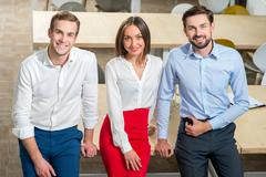Experienced business partners are ready to work - stock photo