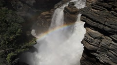 Cascade of the Athabasca Falls - stock footage