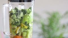Blending food in blender - stock footage