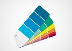 Color chart Stock Illustration