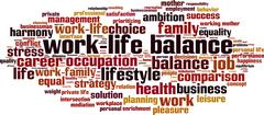 Stock Illustration of Work-life balance word cloud