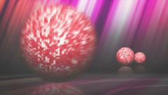Falling Disco Ball and Final White Transition (3 Versions), 4k - stock footage