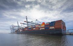 Large container ship Stock Photos