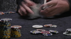 PLAYING CARDS IN TIME LAPSE Stock Footage