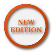 Stock Illustration of New edition icon. Internet button on white background..