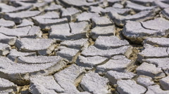 Drought And Cracked Volcano Mud Stock Footage