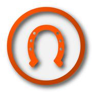 Stock Illustration of Horseshoe icon. Internet button on white background..
