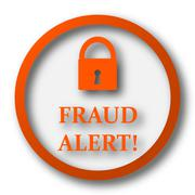 Stock Illustration of Fraud alert icon. Internet button on white background..