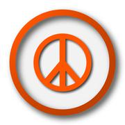 Stock Illustration of Peace icon. Internet button on white background..