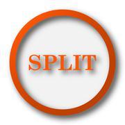 Stock Illustration of Split icon. Internet button on white background..