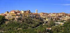 Elba island, Capoliveri village panorama. Tuscany, Italy. Stock Photos