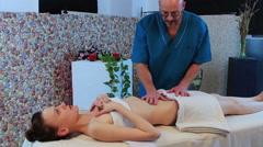 Stomack massage Stock Footage