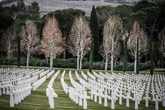 American Second World War Cemetery - stock photo