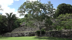 Costa Maya Mexico Kuhunich Mayan Ruins temple HD 018 Stock Footage