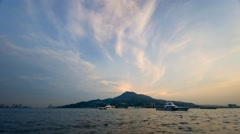 4K timelapse sunset and beautiful clouds at Tamsui District Stock Footage