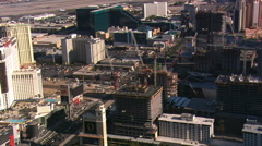 Looking down at new construction along the Las Vegas Strip. Shot in 2008. Stock Footage