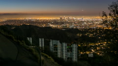 Hollywood Sign Sunrise Time Lapse Stock Footage