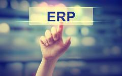 Stock Photo of ERP - Enterprise Resource Planning concept