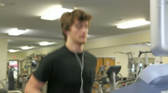 Young Male Working Out In Fitness Center Stock Footage