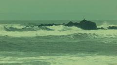 Irish coastline - stock footage