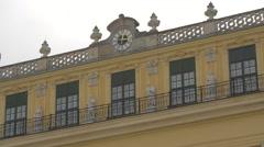 Clock on Schönbrunn Palace, Vienna Stock Footage