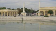 Fountain near the main entrance of Schönbrunn Palace, Vienna Stock Footage