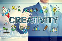 Businessman drawing Creativity concept - stock illustration